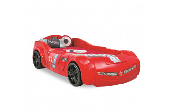 Carbed Кровать-машина Turbo Max, красная, сп. м. 90х195