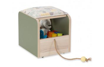 Пуфик с ящиком Montessori Cilek для игрушек