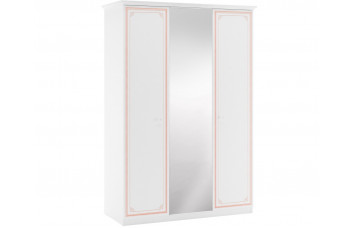 Трехдверный шкаф Selena Pink