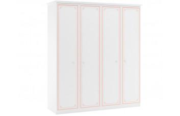 Четырехдверный шкаф Selena Pink