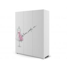 Шкаф з-х дверный 150 Фэшн Пинк Меблик