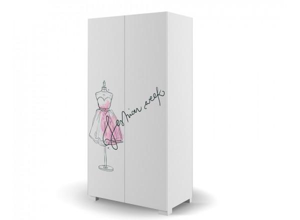 Шкаф 2-х дверный 100 Фэшн Пинк Меблик