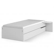 Кровать 90x190 низкая Янг Вайт от Меблик