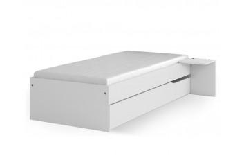 Кровать 120х190 низкая Янг Вайт от Меблик