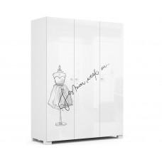 Шкаф з-х дверный 150 Фэшн Grey  Меблик