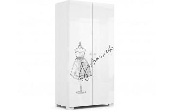 Шкаф 2-х дверный 100 Фэшн Grey  Меблик