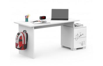 Письменный стол Микс 125 Янг Вайтe Grey Меблик