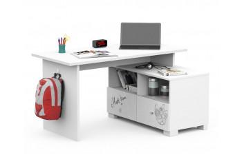Письменный стол Микс 140 Янг Вайтe Grey Меблик