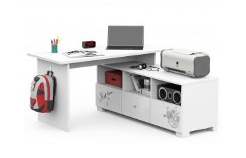 Письменный стол Микс 130 Янг Вайтe Grey Меблик