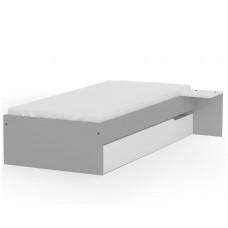 Кровать 90х190 низкая Янг Грей от Меблик