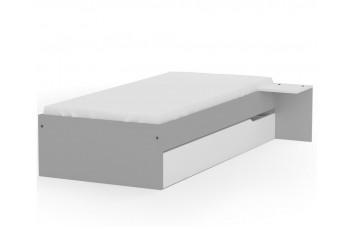Кровать 120х190 низкая Янг Грей от Меблик