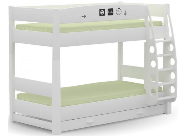 Кровать 2-ярусная 90x190 LOL Меблик