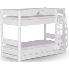 Кровать 2-ярусная магнолия 90x190 меблик  от Меблик