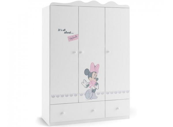 Шкаф 3-х дверный Минни Маус Меблик