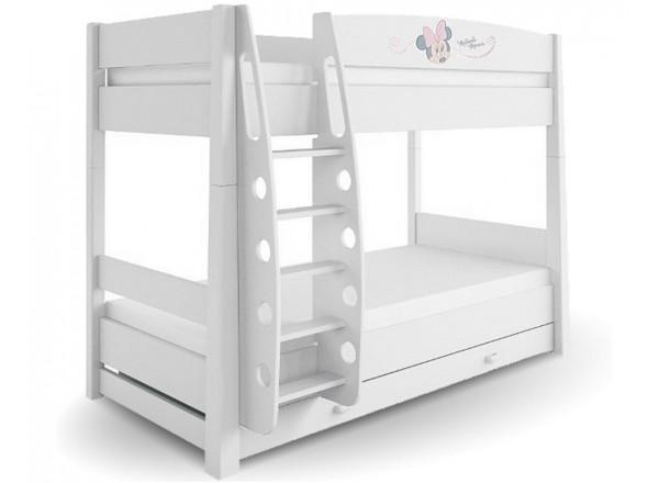 Кровать 2-ярусная 90x190 Минни Маус Меблик