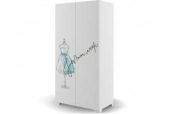 Шкаф 2-х дверный 100 Фэшн Mint  Меблик