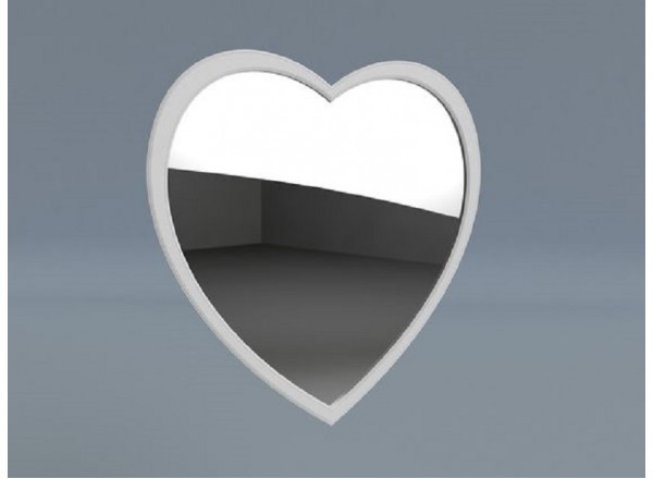 Нависное зеркало в виде сердца