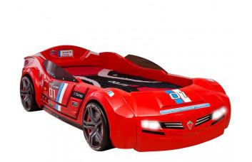 Carbed Кровать-машина BiTurbo 1334, красная CILEK