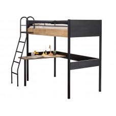 Кровать-чердак со столом BLACK 1402 Cilek