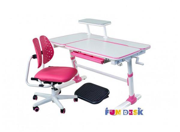 Растущий стол для школьника купить FunDesk Invito + ортопедическое кресло FunDesk SST2