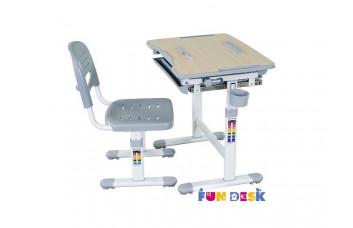 Детская парта и стул для учебы и рисования FunDesk Bambino