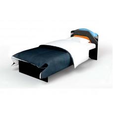 Кровать классика с кож. вставкой Pilot