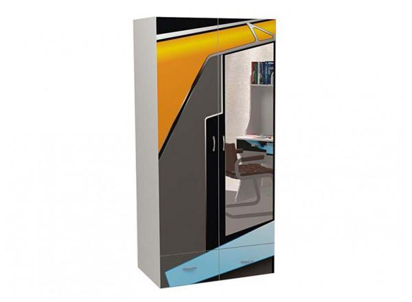 Шкаф 2-х дверный с зеркалом Pilot