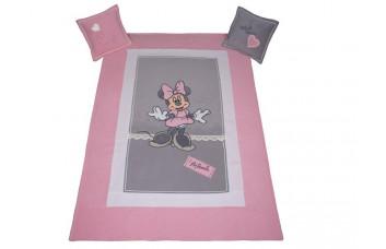 Покрывало + 2 подушки Minnie Mouse МЕБЛИК