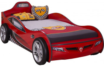 Кровать машина COUPE , красный