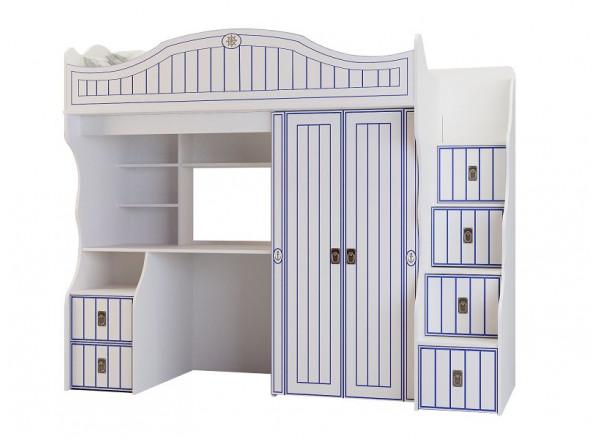 Детская кровать чердак большой Миларосо КАПИТАН К-04