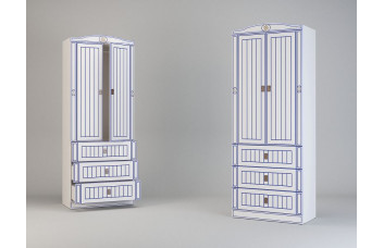 Детский шкаф с 2-мя дверьми и 3-мя ящками Миларосо КАПИТАН К-22