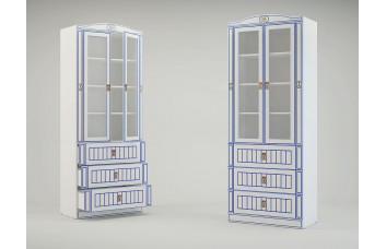 Детский шкаф-витрина большой Миларосо КАПИТАН К-26