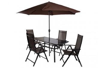Комплект обеденный с складным беж.зонтом
