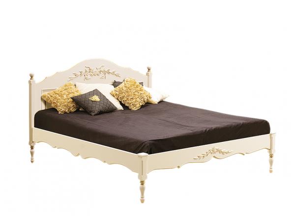 Кровать с низ. изножьем. Роспись с золотом