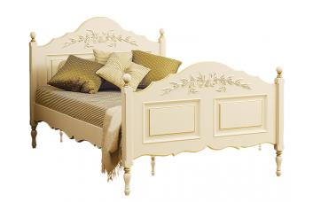 Кровать с высоким изножьем, роспись с золотом