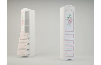 ПРОВАНС Шкаф с 1 дверью и 4-мя ящиками Р-20 (Миларосо)