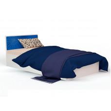 Кровать классика  с кож. вставкой