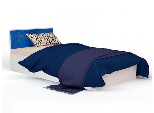 Кровать классика 120 с кож. вставкой