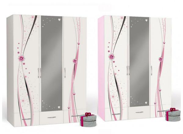 Детский шкаф 3-х дверный ABC-King Princess с зеркалом