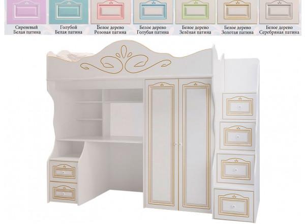 Кровать-чердак большой RM-04 (Милароса)