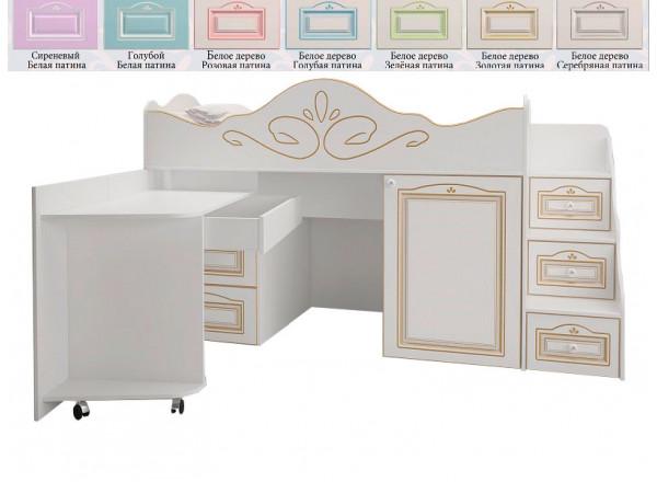 Кровать-чердак Ромео малый RM-03 (Милароса)