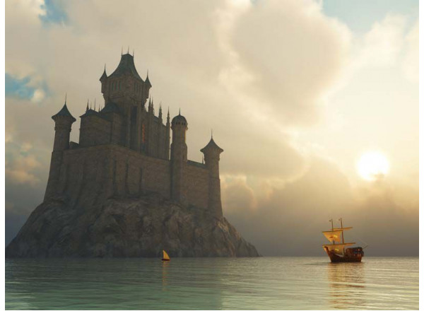 Фотообои Замок на воде