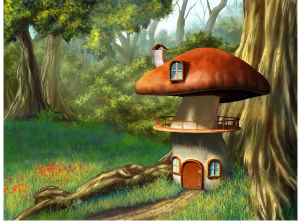 Фотообои Дом-гриб