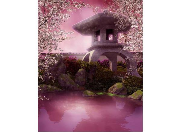 Фотообои Розовое озеро