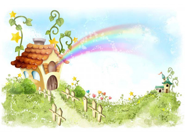 Фотообои Радужный домик