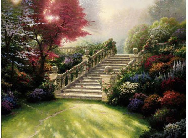 Фотообои Лестница в парк